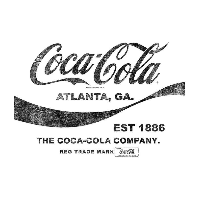 Coca Cola Drink 1886 Black Text