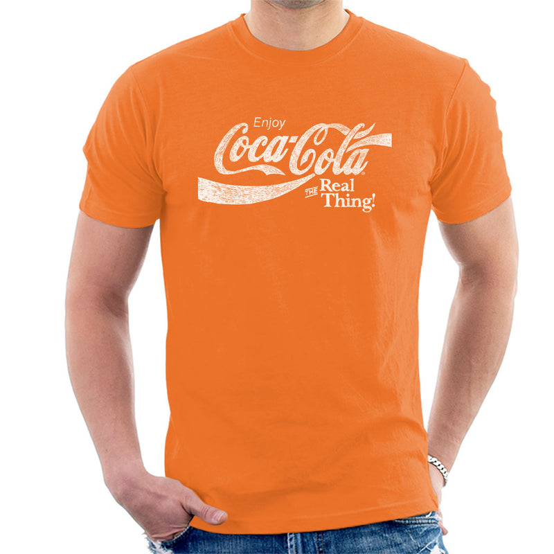 Coca Cola The Real Thing White Text Men's T-Shirt - POD66