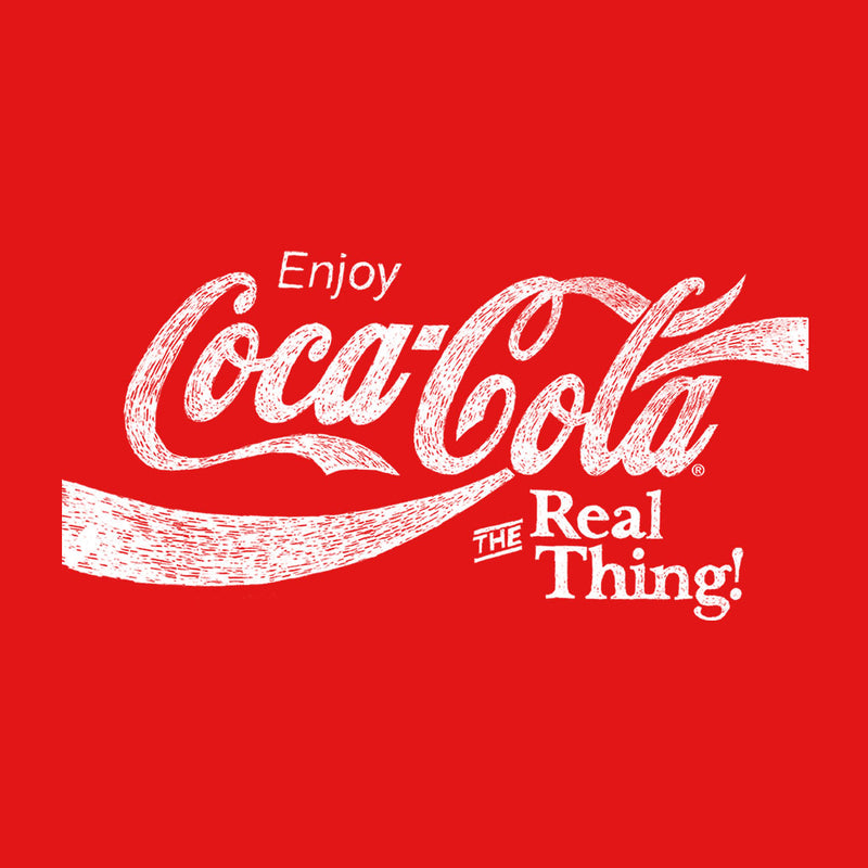 Coca Cola The Real Thing White Text
