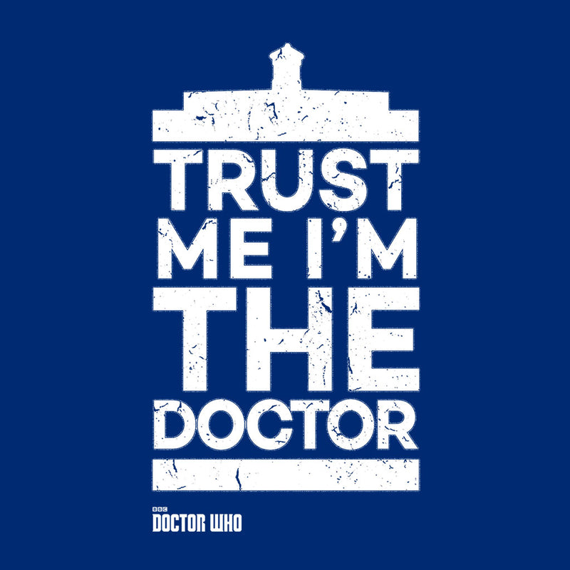 Doctor Who Trust Me Im The Doctor White Text Men's T-Shirt - POD66
