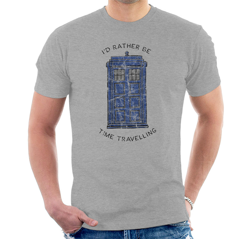 Doctor Who Id Rather Be Time Travelling Men's T-Shirt