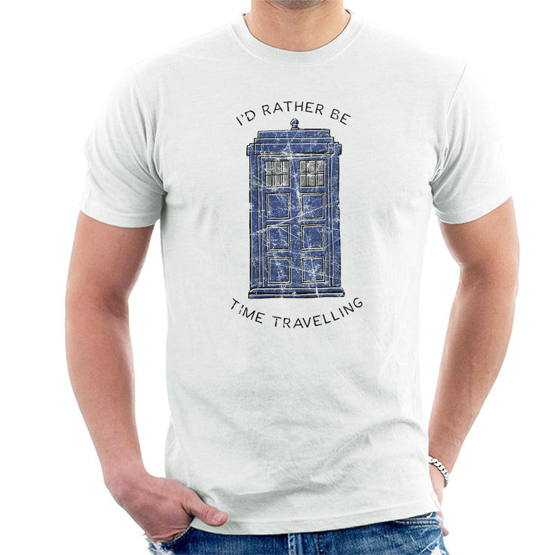 Doctor Who Id Rather Be Time Travelling Men's T-Shirt - POD66