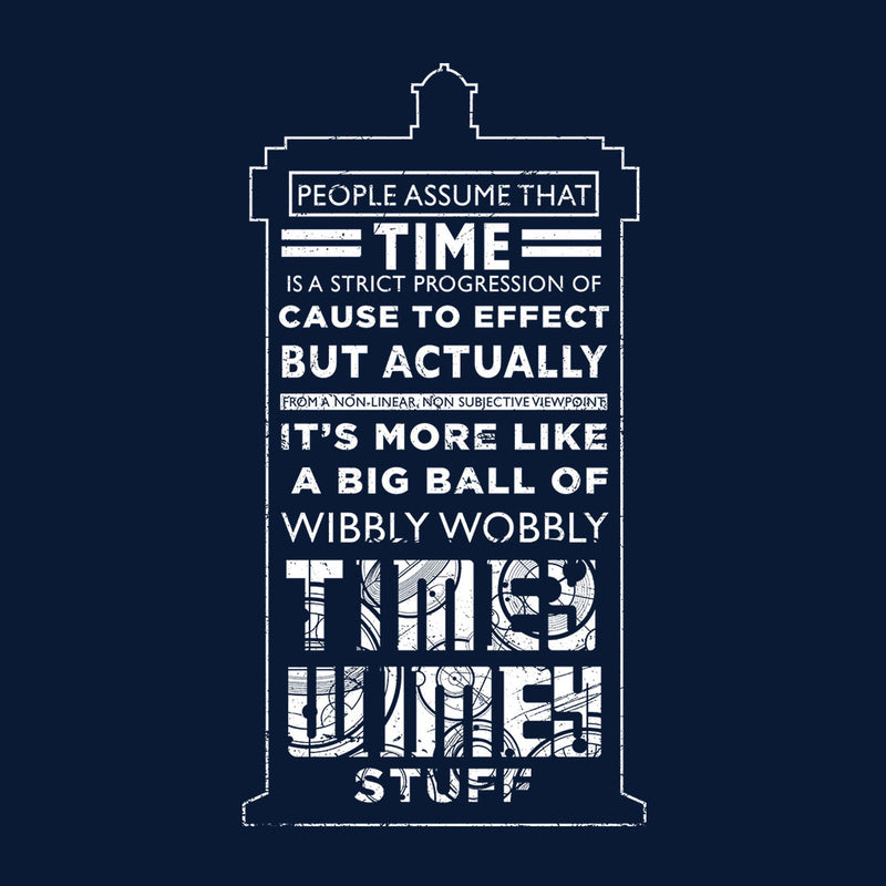 Doctor Who Tardis Time Quote White Text