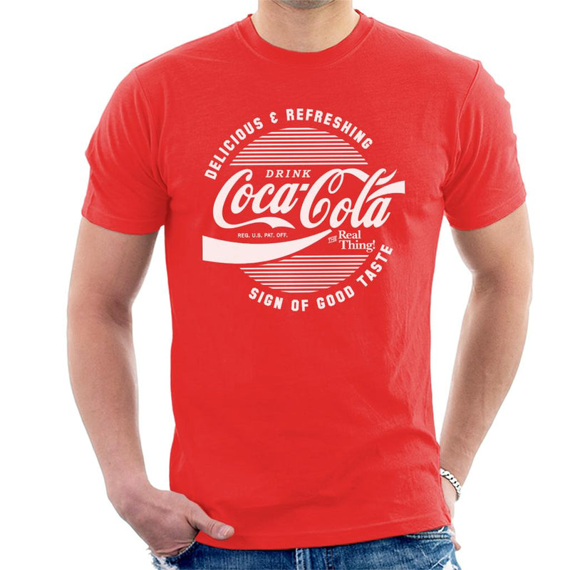 Official Coca Cola Circle Logo White Text - POD66