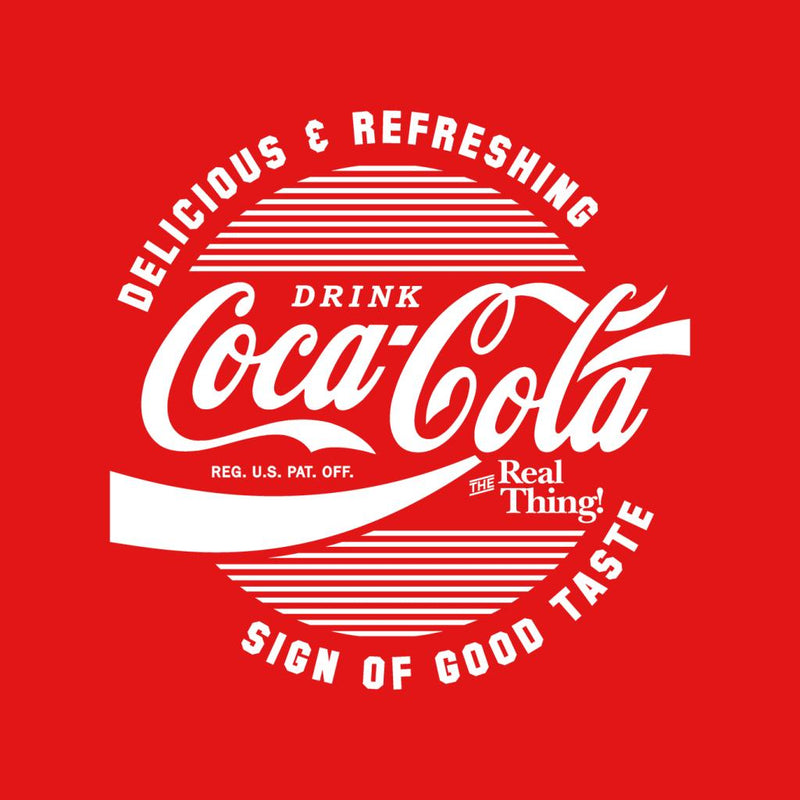 Official Coca Cola Circle Logo White Text