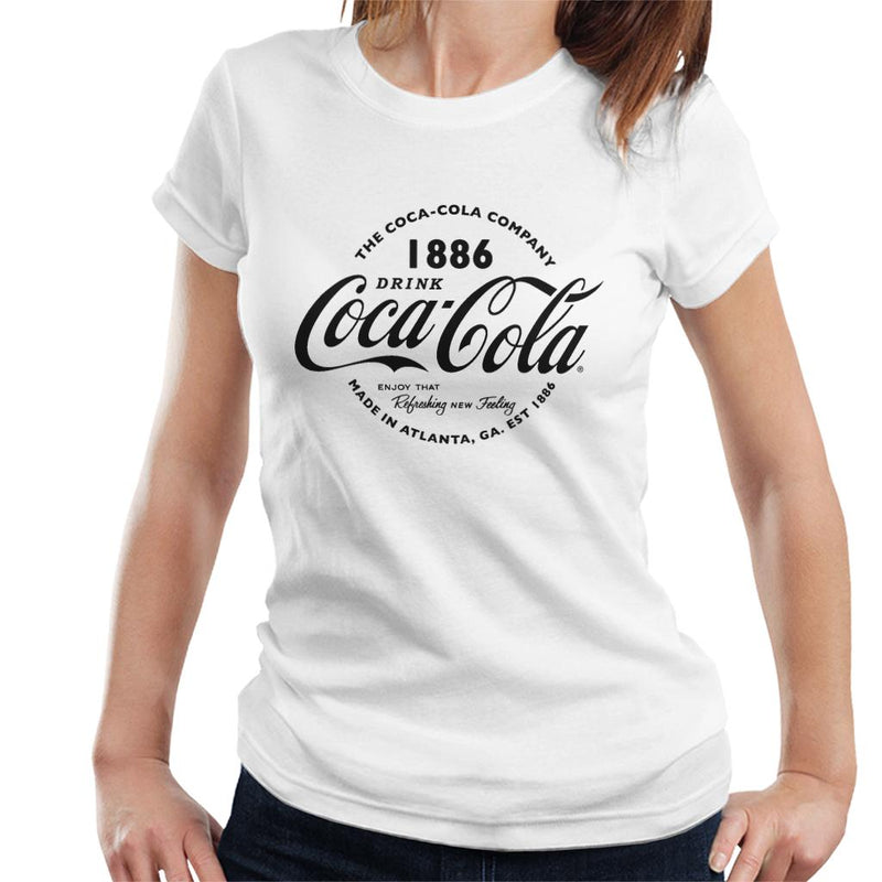 Coca Cola Retro Logo Black Text Women's T-Shirt