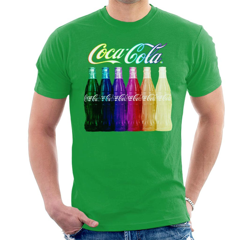 Coca Cola Rainbow Multi Bottles Men's T-Shirt - POD66