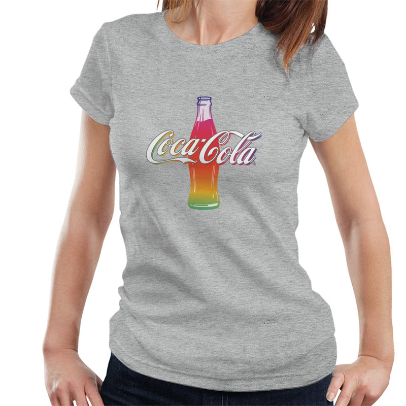 Coca Cola Multi Colour Bottle Women's T-Shirt - POD66