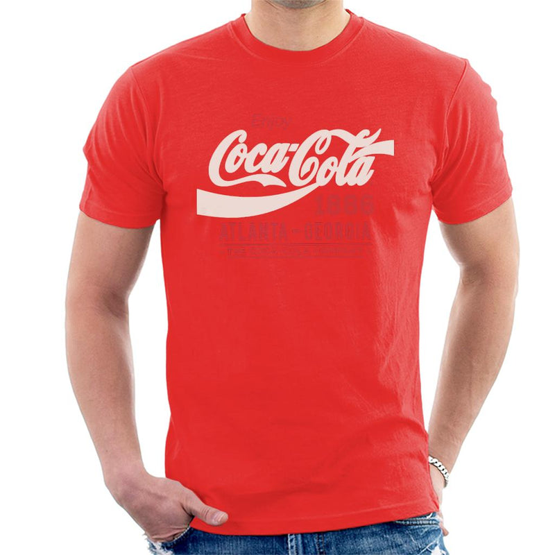 Coca Cola White Classic Logo Men's T-Shirt - POD66