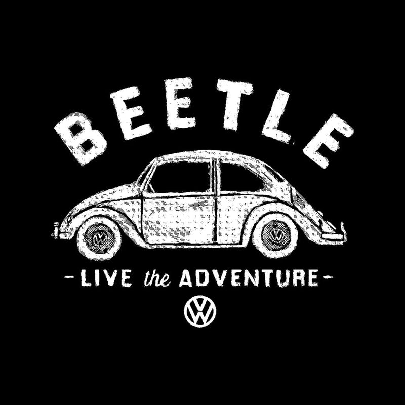Official Volkswagen Beetle White Live The Adventure Men's T-Shirt - POD66