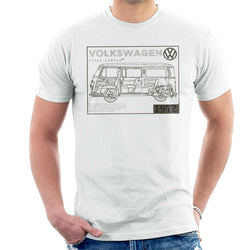 Official Volkswagen Type 2 Camper Plans Dark Text Men's T-Shirt