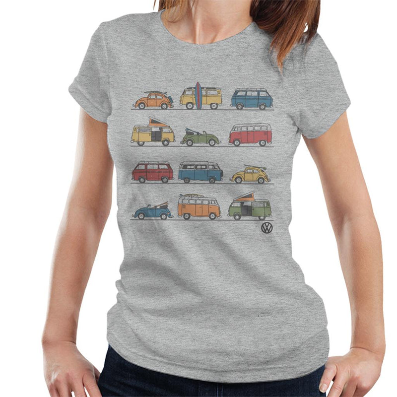 Official Volkswagen Vans And Beetles Women's T-Shirt