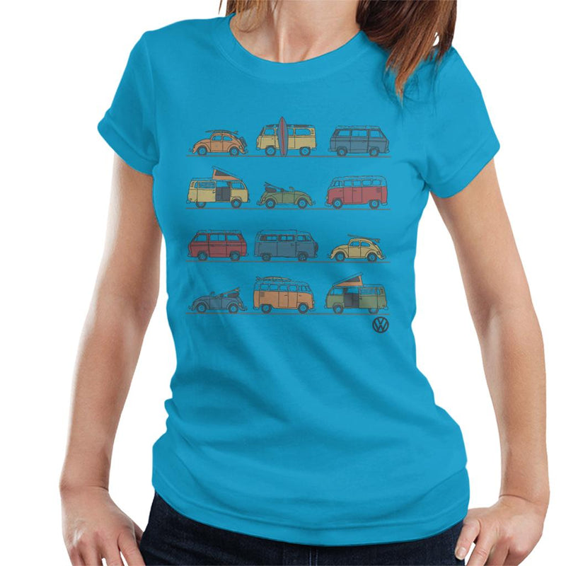 Official Volkswagen Vans And Beetles Women's T-Shirt - POD66