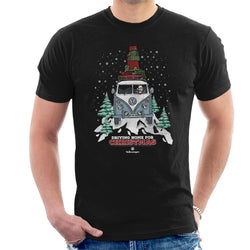 Official Volkswagen Christmas Camper White Text Men's T-Shirt