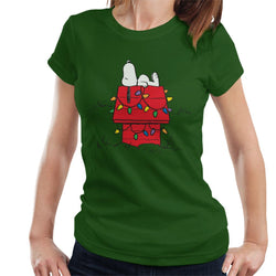Peanuts Christmas Light House Snoopy Women's T-Shirt - POD66