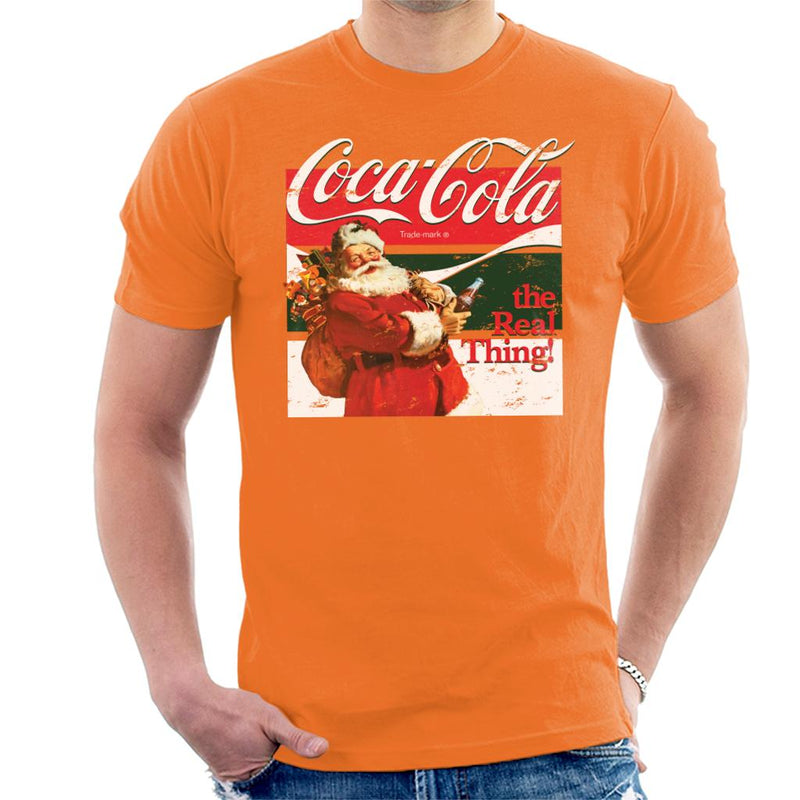 Coca Cola The Real Thing Christmas Men's T-Shirt - POD66