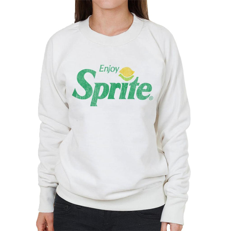 Enjoy Sprite Distressed Logo Women's Sweatshirt - POD66