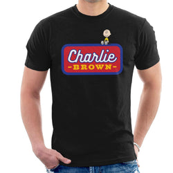 Peanuts Charlie Brown Badge Men's T-Shirt - POD66