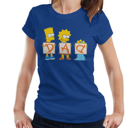 The Simpsons Dad Letters Women's T-Shirt - POD66