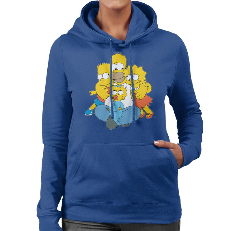 The Simpsons All Eyes On You Women's Hooded Sweatshirt - POD66