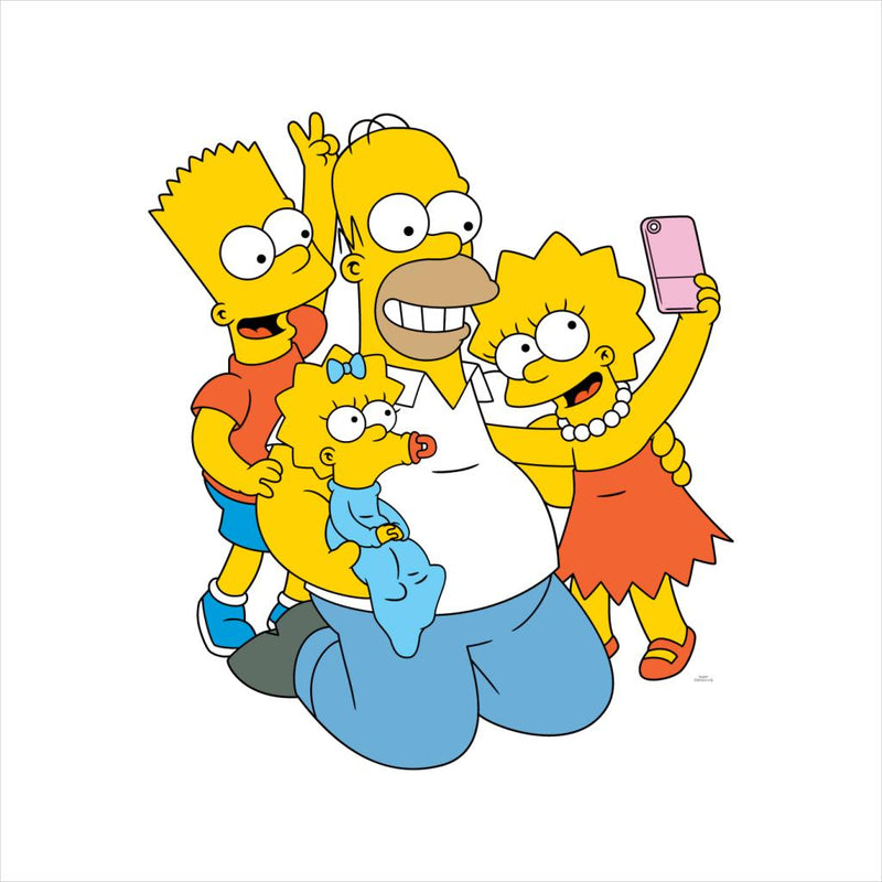 The Simpsons Selfie With Dad Men's T-Shirt - POD66