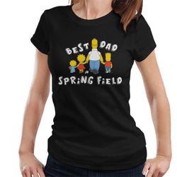 The Simpsons Best Dad In Springfield Women's T-Shirt - POD66