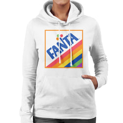 Fanta 1970s Retro Rainbow Logo Women's Hooded Sweatshirt