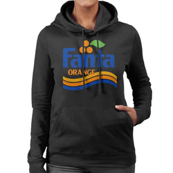 Fanta Orange 1980s Retro Wave Logo Women's Hooded Sweatshirt