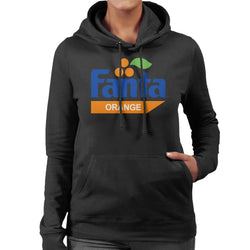 Fanta Orange Retro 1980s Logo Women's Hooded Sweatshirt