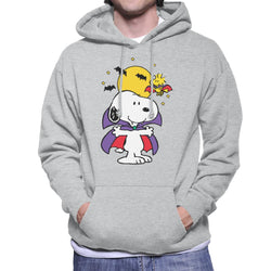 Peanuts Halloween Snoopy Vampire Men's Hooded Sweatshirt - POD66