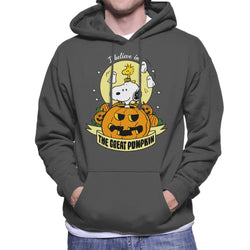 Peanuts Halloween The Great Pumpkin Men's Hooded Sweatshirt - POD66