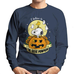 Peanuts Halloween The Great Pumpkin Men's Sweatshirt - POD66