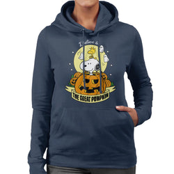 Peanuts Halloween The Great Pumpkin Women's Hooded Sweatshirt - POD66