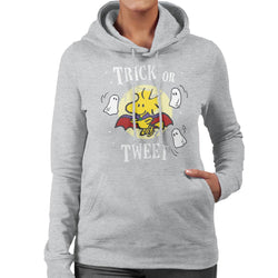 Peanuts Halloween Trick Or Tweet Woodstock Women's Hooded Sweatshirt - POD66