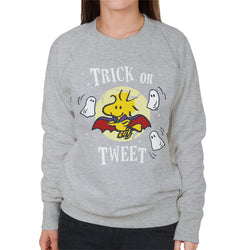Peanuts Halloween Trick Or Tweet Woodstock Women's Sweatshirt - POD66