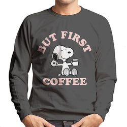 Peanuts But First Coffee Snoopy Men's Sweatshirt - POD66