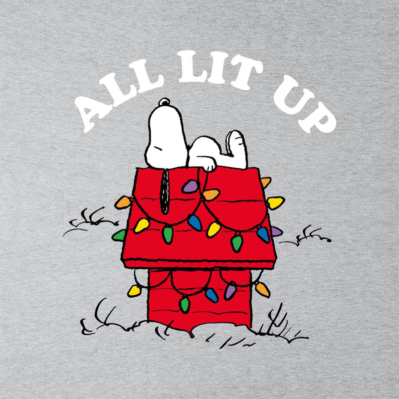 Peanuts Christmas All Lit Up Snoopy Men's T-Shirt - POD66