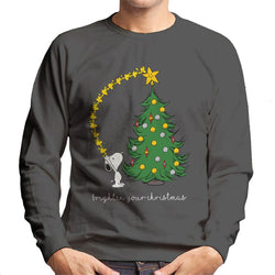 Peanuts Snoopy Woodstock Brighten Your Christmas Men's Sweatshirt - POD66