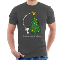 Peanuts Snoopy Woodstock Brighten Your Christmas Men's T-Shirt - POD66