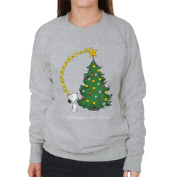 Peanuts Snoopy Woodstock Brighten Your Christmas Women's Sweatshirt - POD66