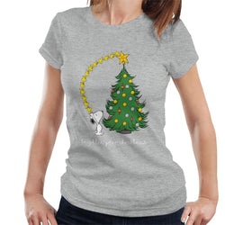 Peanuts Snoopy Woodstock Brighten Your Christmas Women's T-Shirt - POD66