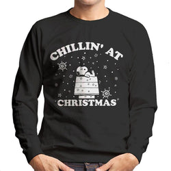 Peanuts Chillin At Christmas Snoopy Men's Sweatshirt - POD66