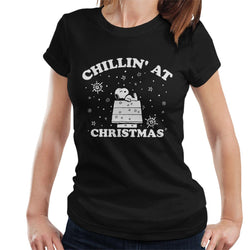 Peanuts Chillin At Christmas Snoopy Women's T-Shirt - POD66