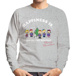 Peanuts Sharing The Holiday Christmas Men's Sweatshirt - POD66