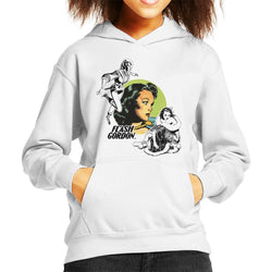 Flash Gordon Dale Montage Kid's Hooded Sweatshirt - POD66