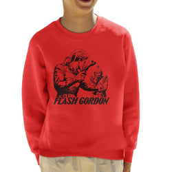 Flash Gordon Ming Face Off Kid's Sweatshirt - POD66