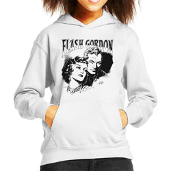 Flash Gordon Couple Portrait Kid's Hooded Sweatshirt - POD66