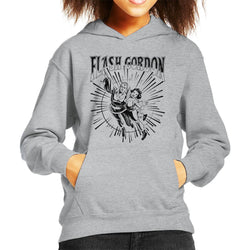 Flash Gordon Flying Couple Kid's Hooded Sweatshirt - POD66