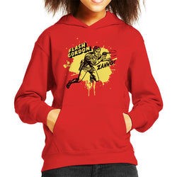 Flash Gordon Ray Gun Zanng Kid's Hooded Sweatshirt - POD66