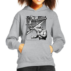 Flash Gordon Space Suit Rocket Montage Kid's Hooded Sweatshirt - POD66